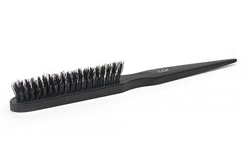 LUQX Volume Brush, Noble Black - Spazzola per capelli in legno di faggio con setole naturali