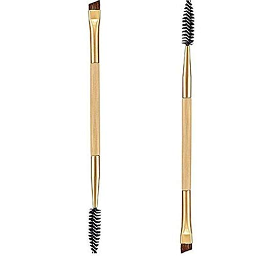 Maquillage Bamboo Handle & Eyebrow Brush + Peigne à sourcils