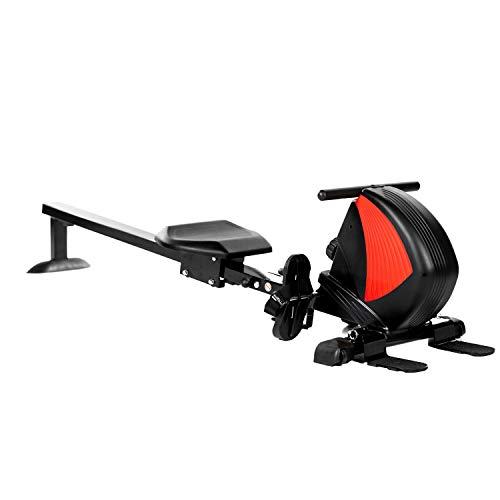 AsVIVA Rudergerät RA8 schwarz | TOP-ANGEBOT! Magnetbremse mit 8 Widerstandsstufen, inkl. Pulsempfänger (Brustgurt optional) klappbar |Heimtrainer Rower kompakt