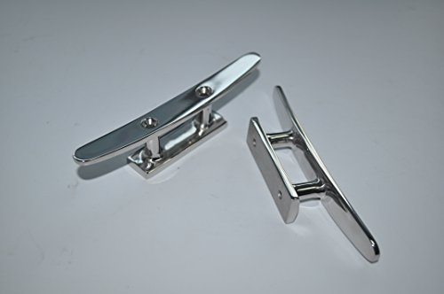 """Stainless Steel 4"""" Flat Top Boat Cleat (Pair) Test"""