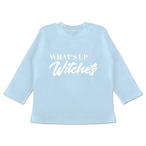 Anlässe Baby - Whats up Witches - 18-24 Monate - Babyblau - BZ11 - Baby T-Shirt Langarm