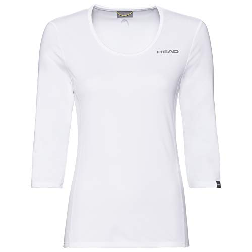 HEAD Damen Club Tech 3/4 Shirt W T, weiß, Small
