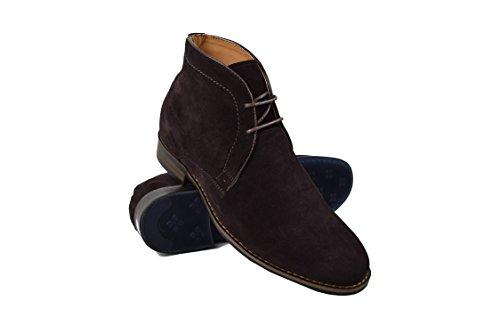Zerimar scarpe con rialzo interno uomo per aumentare di statura + 7 cm | stivali uomo rialzate | stivali uomo elegante | stivali per essere più alto (41 eu, caffè)