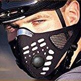 Zantec Wind / Staub / kalt Schutz Gesichtsmaske mit Filter für Radfahren Fahrrad Motorrad Ski (schwarz)