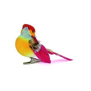 Artemio 6-Piece Small Birds on Clip, Multi-Colour