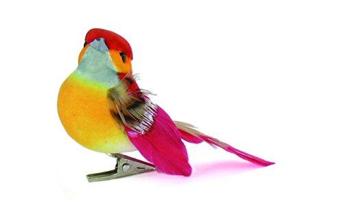 Artemio - Pájaro decorativo sobre pinza (6 unidades)