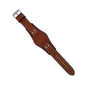 Fossil Uhrband Wechselarmband LB-CH2986 Original Ersatzband CH 2986 Uhrenarmband Leder 22 mm Braun