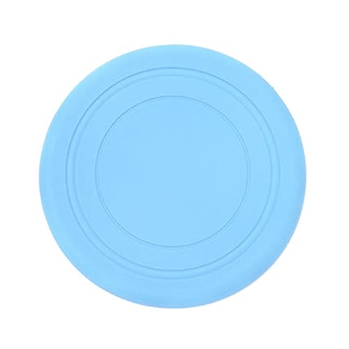 VEVICE 17,8 cm Pet morbido silicone Play disco volante frisbee bite resistenza Fetch Exercise training Tools Outdoor Flyer InterActive giocattoli per cani di taglia piccola, media/Puppy