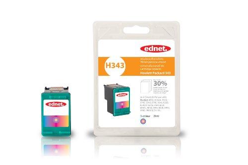 Preisvergleich Produktbild Tintenpatrone für HP ersetzt 343 farbig 30% Extra