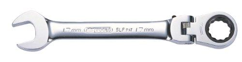 KS Tools 503.4813-E - Chiave combinata con testa snodata della gamma GEAR+, 13mm
