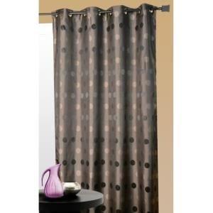Homemaison.com hm69851341 - tenda da arredo con fantasia a pois 140 x 260 cm grigio