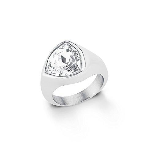 S-ring (s.Oliver Damen-Ring Swarovski Elements Edelstahl Kristall weiß Gr. 56 (17.8) - 567336)