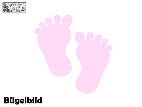 Bügelbild Aufbügler Füße Foot Birthday in Flex, Glitzer, Flock, Effekt in Wunschgröße -