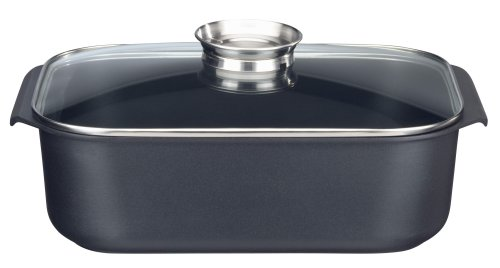 Elo 82744 Rectangular Roasting Tin/Tray with Lid and Aroma Knob 40x26 cm Die-Cast Aluminium