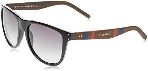 Tommy Hilfiger Unisex-Erwachsene TH 1112/S JJ 4K1 55 Sonnenbrille, Schwarz (Black Wood/Grey),