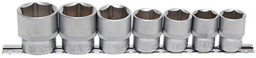 Bgs 9108 Clé à douille Set, 12, 5 (1/2), 6 pans, 20–32 mm, 7 pièces