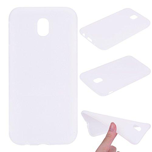 Nancen Case Samsung Galaxy J530(2017) Handy Hülle Einfarbig Weiss. Weich TPU Silikon Case