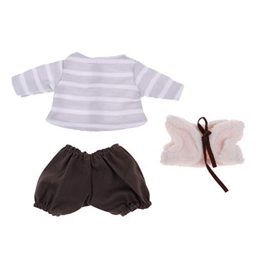 P Prettyia Handgemachte Puppe Kleidung für 26cm Mellchan Neugeborene Baby Puppen Dress Up - # 7