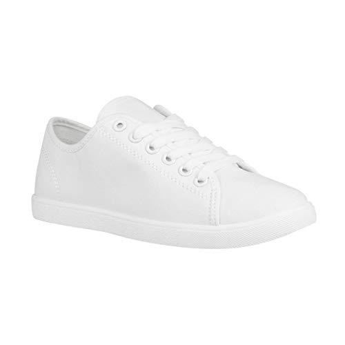 Elara Damen Sneaker Basic Chunkyrayan CL33319 White-37