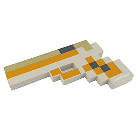 8 Bit Pixelated Blaster Yellow Foam Gun Toy 10