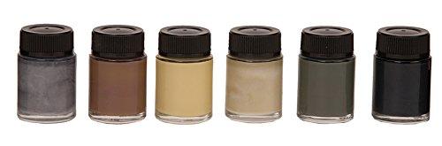 Naturfarben-Set, 6 Farbkonzentrate, je 20 ml
