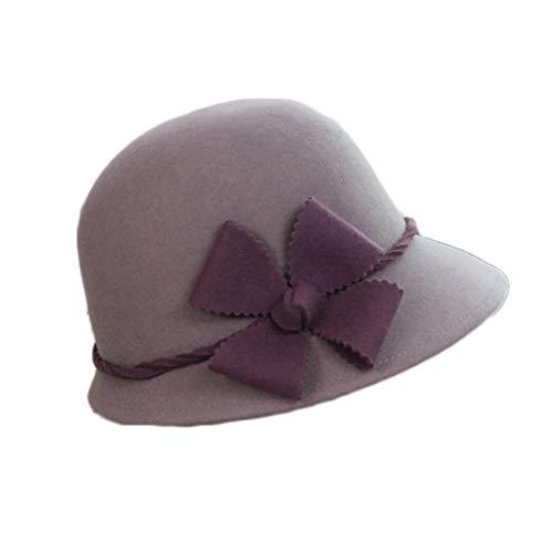 In der Frühlings- und Herbstsaison sind die Hüte der Frauen warme Katze Hut (Farbe : Grau, Size : M)