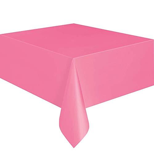 Rycnet Einweg-Tischdecke, Kunststoff, einfarbig, 137 x 183 cm hot pink (Hot Pink Tischdecke)