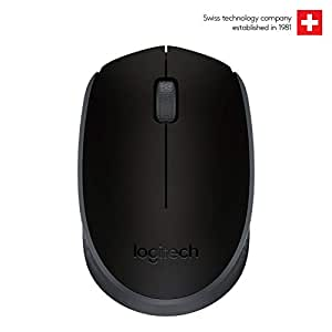 Logitech B170 Wireless Mouse, 2.4 GHz with USB Nano Receiver, Optical Tracking, 12-Months Battery Life, Ambidextrous, PC/Mac/Laptop - Black
