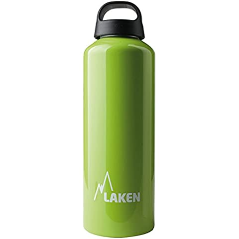 Botella Classic de Laken con tapón de rosca, anillo y boca ancha 1 L Verde Manzana