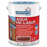 Aqua HK-Lasur, wasserbasierte Premium Holzschutz-Lasur für Holz im Freien,teak 2,5 ltr