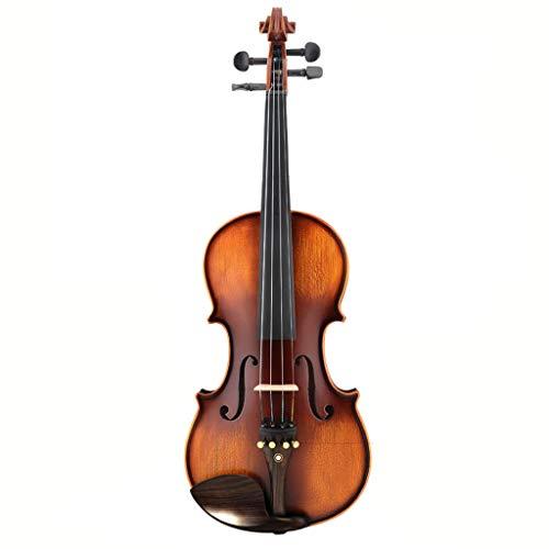 Violini Strumenti a Corda evidenza Legno di Acero Fiddles qualità del Suono Eccellente Fatto a Mano Popolare Regalo Completamente Accessori (Color : 4/4)