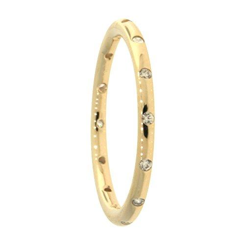 Pandora anello da donna, motivo a gocce, in oro giallo 585 con zirconi bianchi - 150178cz, oro giallo, 16, cod. 150178cz-56