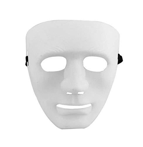 Cdet 1x Weiß Maske Geisterschritt Street Dance Performance Masken Ghost Dance Hip-hop Auftritte Masken Masquerade Halloween Maske (Halloween Maske Website)