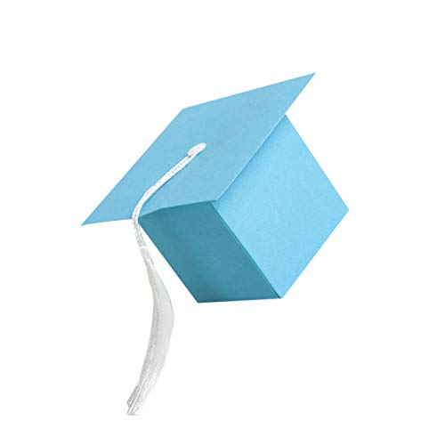 50pcs Bachelor-Hut-Kappen-Süßigkeit Bevorzugungs-Kästen Abschluss-Feier-Party-Geschenke-Verpackungs-Beutel fgyhtyjuu