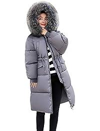 23b2881f19e8 La Vogue Doudoune à Capuche Fourrure Femme Hiver Manteau Zippé Chaud Légère Manches  Longues Grandes Poches