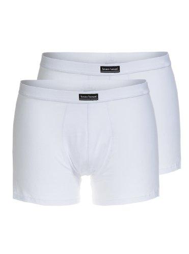 Bruno Banani Herren Pant 2 er Pack 2201-1299 1, Gr. 6 (L), Weiß (weiß 1)