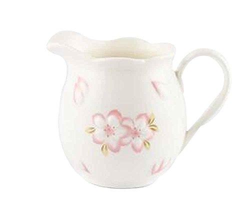 Japanischer Keramikmilch Topf mit Griff, Kirschmuster...