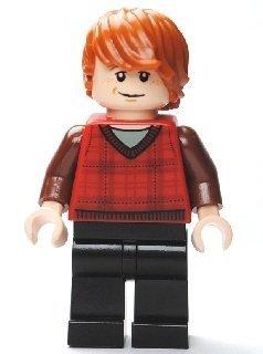 LEGO Harry Potter: Ron Weasley (Tartan Chaleco) Minifigura