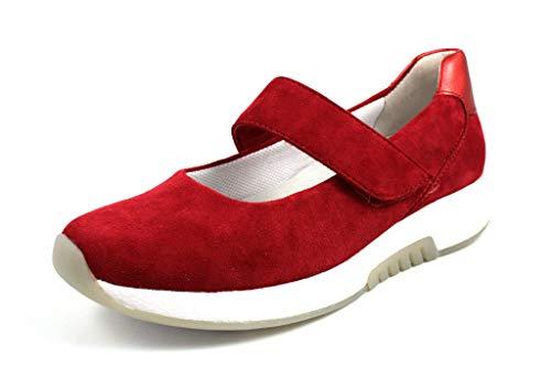 Gabor Comfort 26.951-46 Rollingsoft Damen Sportiver Ballerina aus Nubukleder, Groesse 40, rot