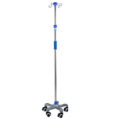 wangzi Salon Trolleys Trolley Deluxe Tropfstandhöhe Höhenverstellbar, Tragbar Edelstahl Infusionsständer Infusionsständer Dialyseflüssigkeitsbügel