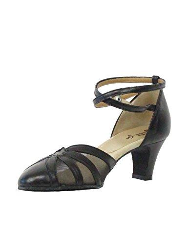 Schuhe Absatz Material Rumba Made Damen Salsa Rumpf Schwarz Chromledersohle Tango Ballroom Cm 5 5 Latein Italy Tanzschuhe Leder 9294 In z8g1wq7x