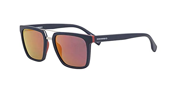 Converse All Star SCO047 Sunglasses Navy w//Dark Grey Red Mirror Lens 53mm 7VNR SCO047Q SCO 047Q SCO 047