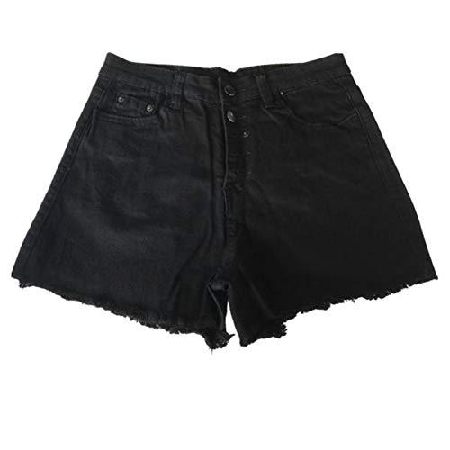 DAIDAICDK Die Kurzen Frauen Loch Zerstörte Zerrissene Jeans Denim Shorts Mit Hoher Taille - Zerstört Low-rise-jeans