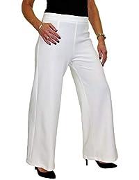 ICE Pantaloni con Gamba Larga e Vita Alta in Crepe Stretch 42-54 f7728c32b74