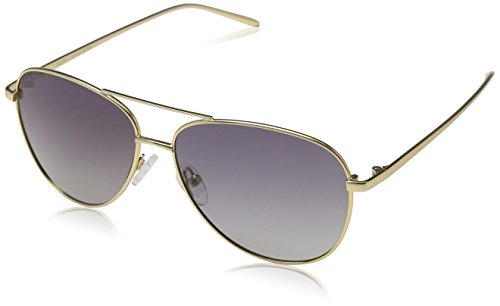 Pilgrim 751812190 Sunglasses: Nani_PI: Gold Plated: Brown Aviator Sonnenbrille 58, Brown