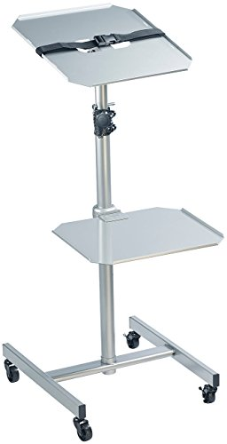 General Office Projektorwagen: Variabler Profi-Projektor-Wagen mit 2 Ablage-Ebenen (Beamer Ständer)