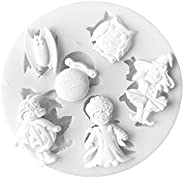 Cabilock Halloween Silicone Baking Mold Nonstick Cake Pan with Pumpkin Bat Angle Shape for Chocolate Cupcakes