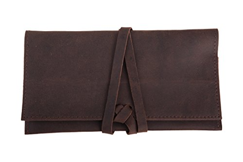 ANDERS Pochette de tabac, pochette en cuir véritable, sac à tabac, sac de fumage, 100% cuir