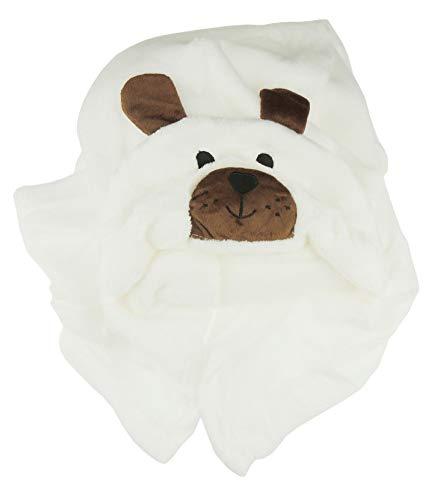 Weiche Babydecke mit Kapuze für Mädchen und Jungen, Bär, Frosch, Hund, Eule, Ente, Panda, Schwein