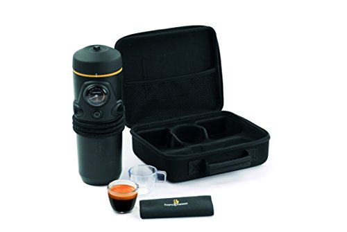 Handpresso Auto Set - Cafetera de cápsulas portátil, 140 W, color negro